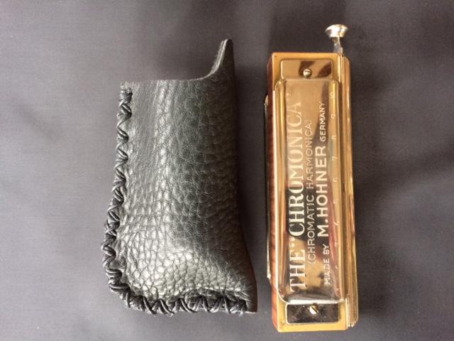Leather Case - Silverfish Bullet Harp Mic - Medium_Z