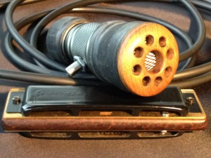 Silverfish Harmonica Mircophone - Wood