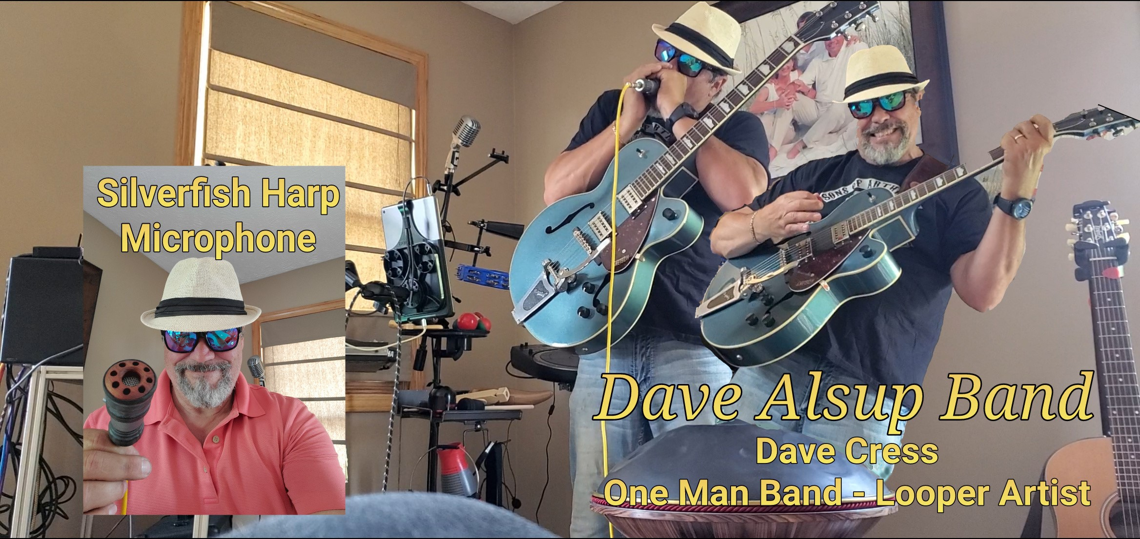 Dave Cress playing a Silver Bullet Mic - Dave Alsup Band